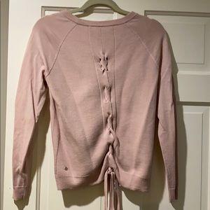 Lululemon crew neck sweater with back tie.